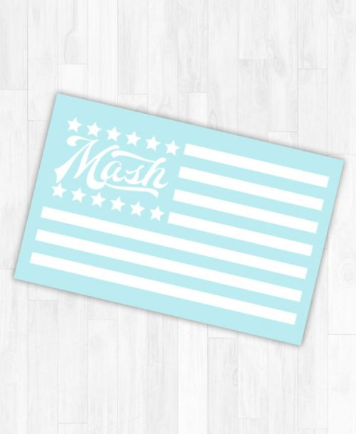 Mash Logo American Flag Light Blue