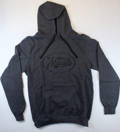Black Hooded Sweatshirt with Mash Logo